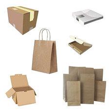 Бумажные пакеты, коробки и тубусы