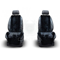Меховые накидки CANTRA на передние сидения (ЧЕРНЫЙ)