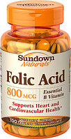 Sundown Naturals Folic Acid 800 mcg (100 таблеток)