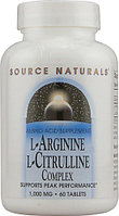 Source Naturals L-Arginine L-Citrulline Complex 1000 mg (60 таблеток)