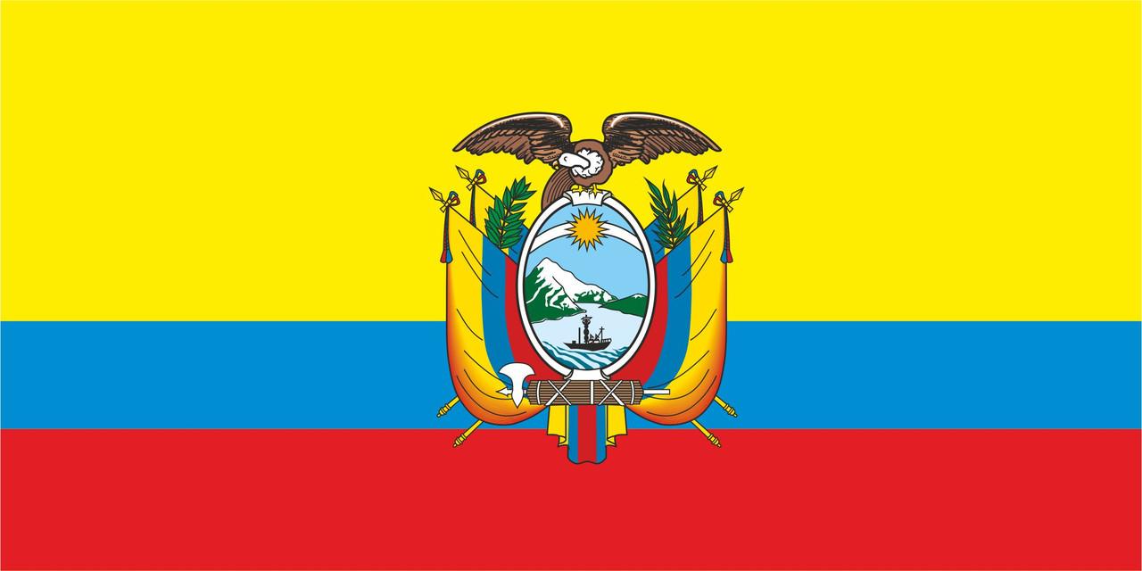 Флаг Эквадора размер 1 х 2 метра.