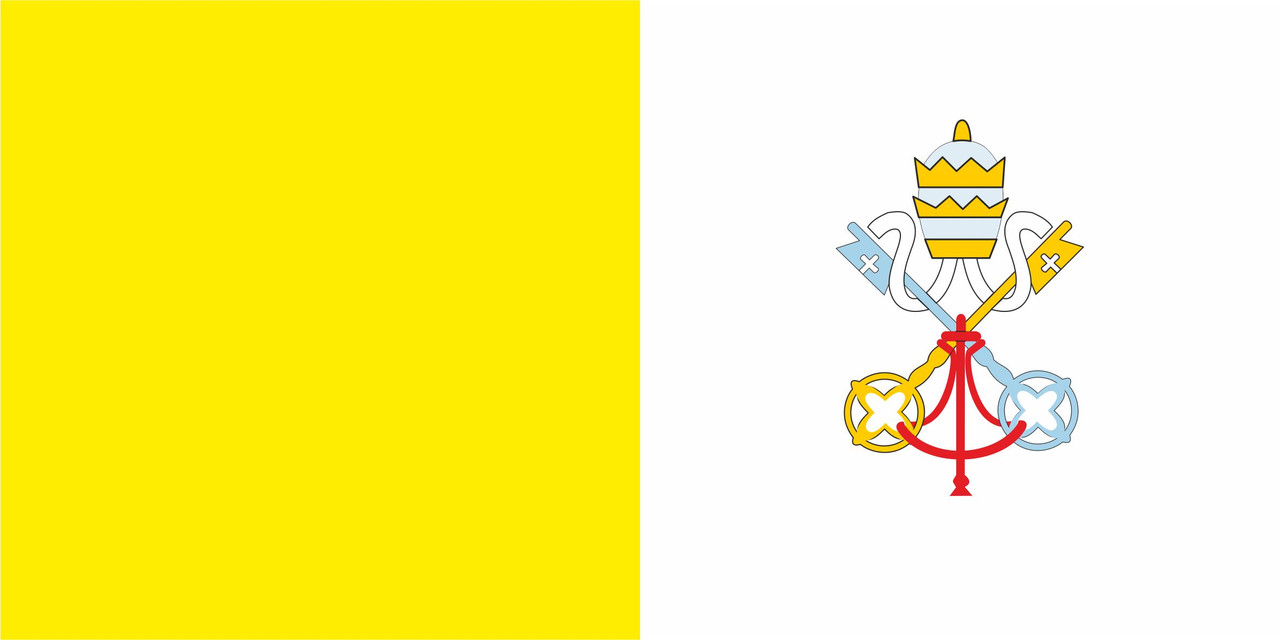 Флаг Ватикана размер 1 х 2 метра.