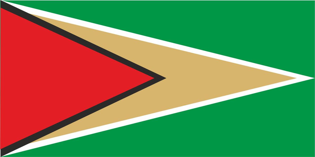 Флаг Гайана размер 1 х 2 метра.
