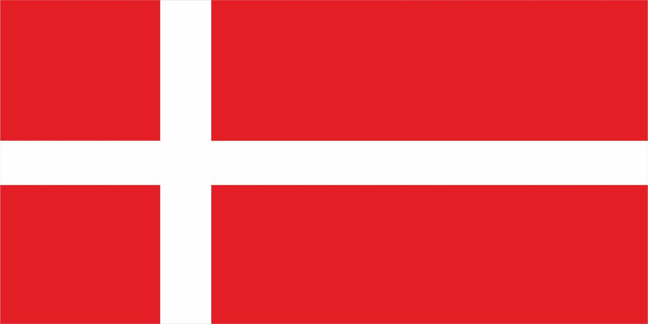 Флаг Дании размер 1 х 2 метра.