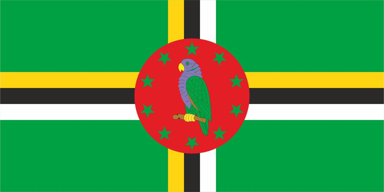 Флаг Доминики размер 1 х 2 метра.