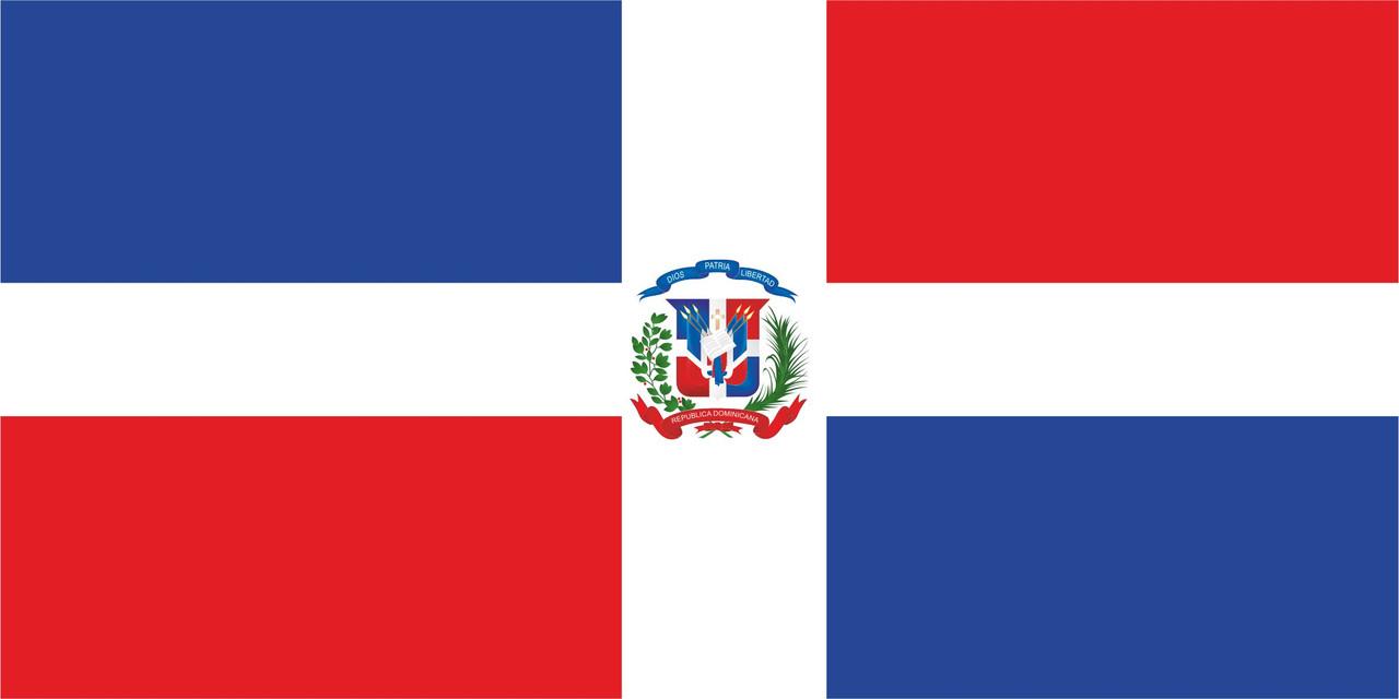 Флаг Доминиканской Республики размер 1 х 2 метра.