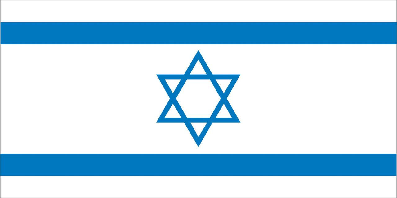 Флаг Израиля размер 1 х 2 метра.