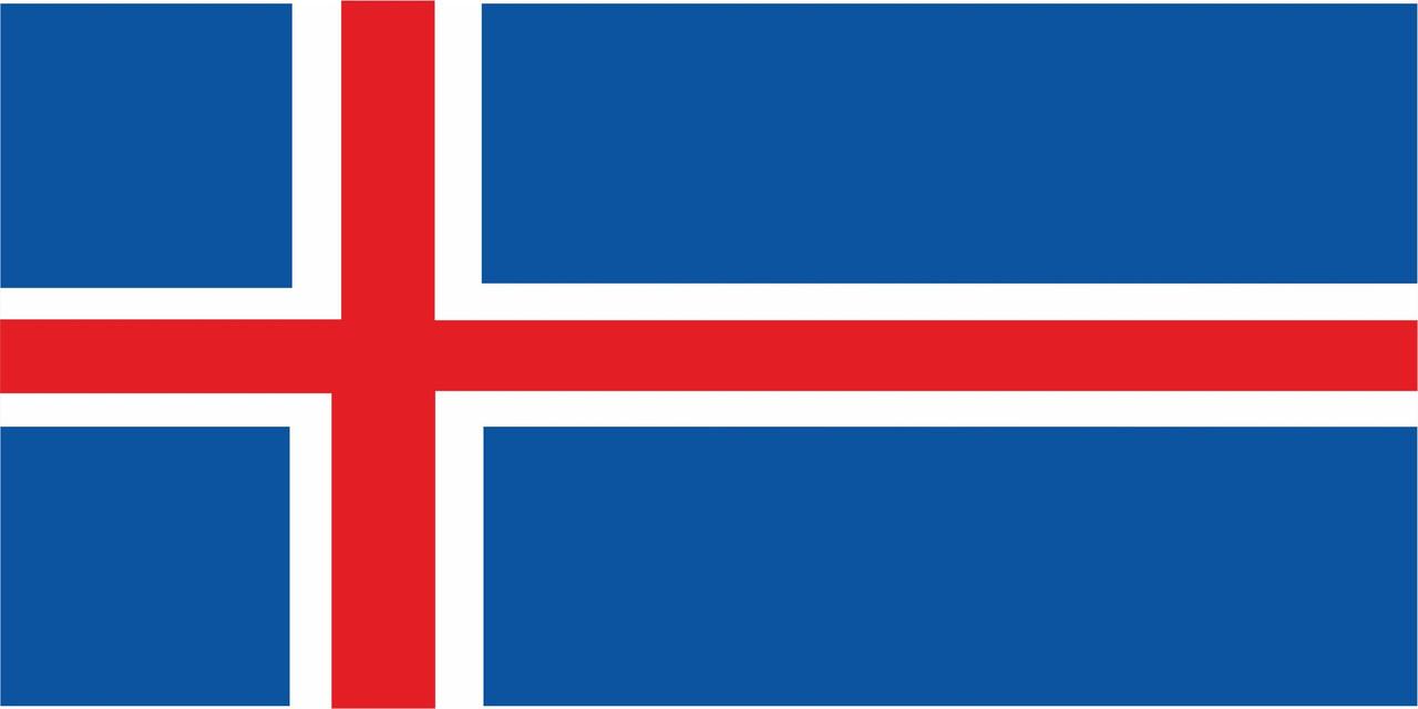 Флаг Исландии размер 1 х 2 метра.