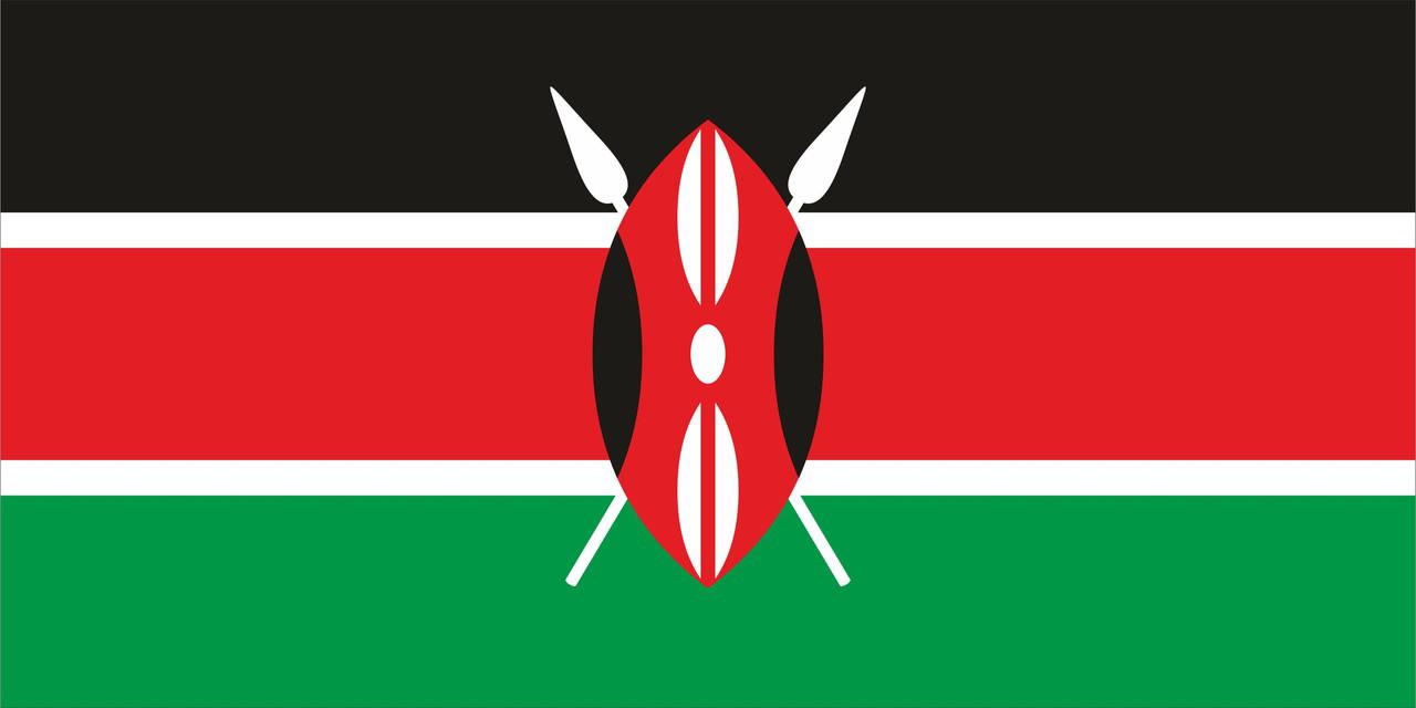 Флаг Кении размер 1 х 2 метра.