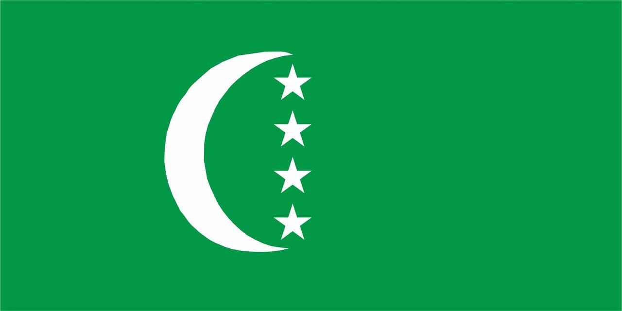 Флаг Коморские-Острова размер 1 х 2 метра.