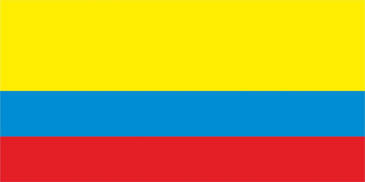 Флаг Колумбии размер 1 х 2 метра.