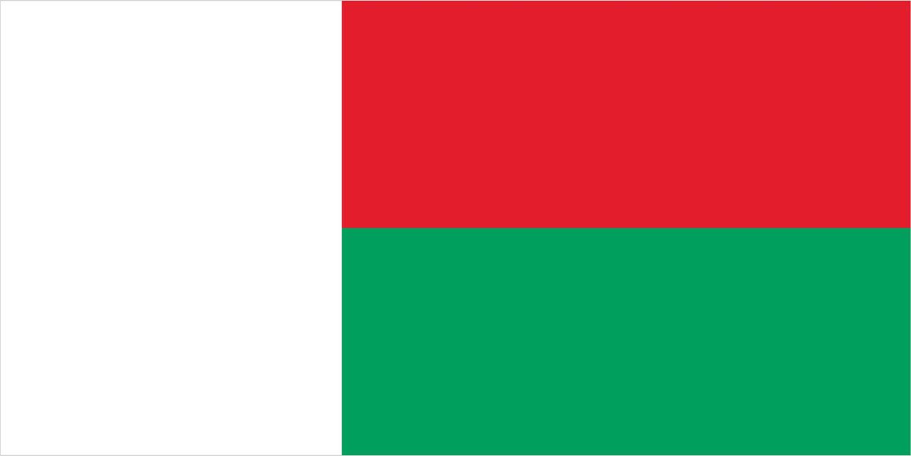 Флаг Мадагаскара размер 1 х 2 метра.