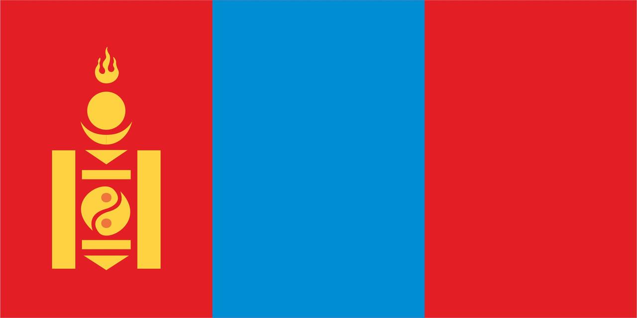 Флаг Монголии размер 1 х 2 метра.