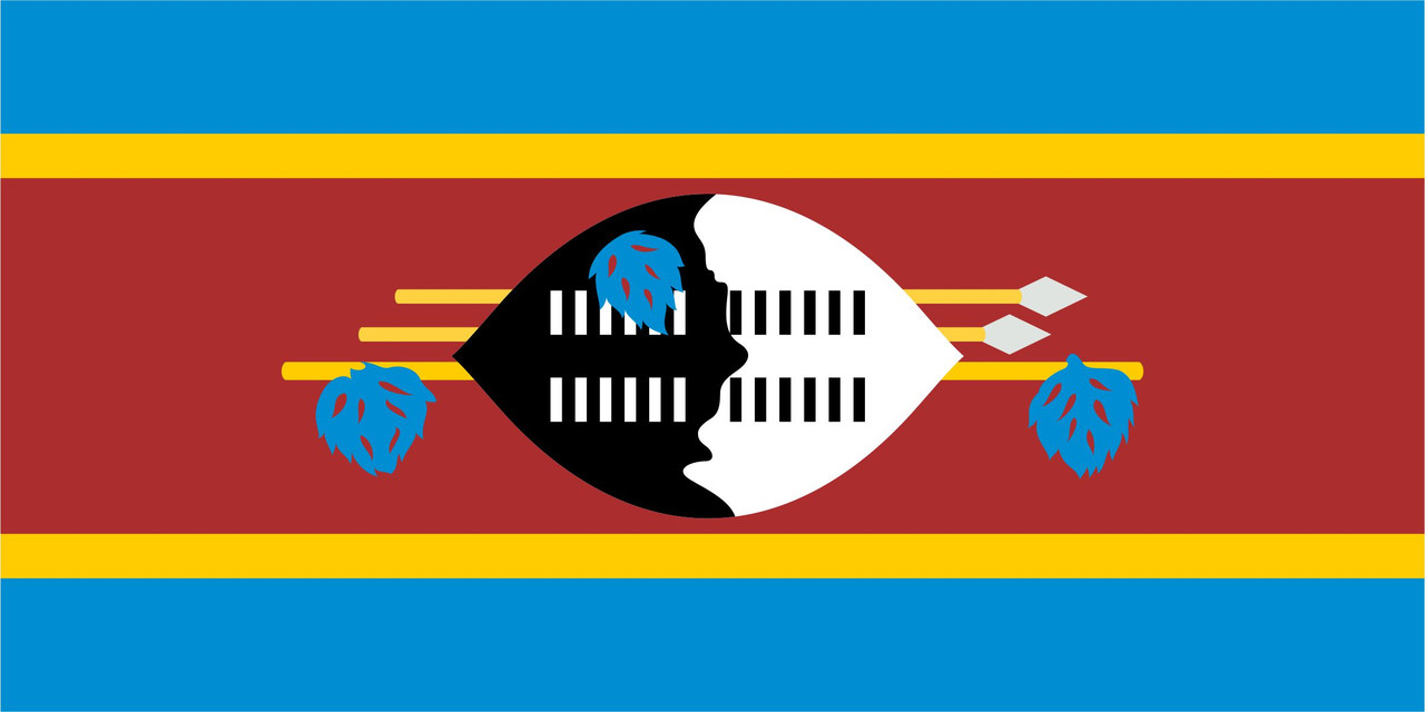 Флаг Свазиленда 1 х 2 метра.