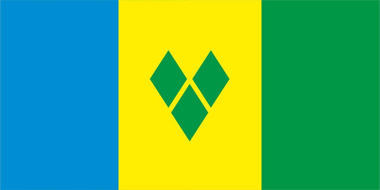 Флаг Сент-Винсента и Гренадин 1 х 2 метра.
