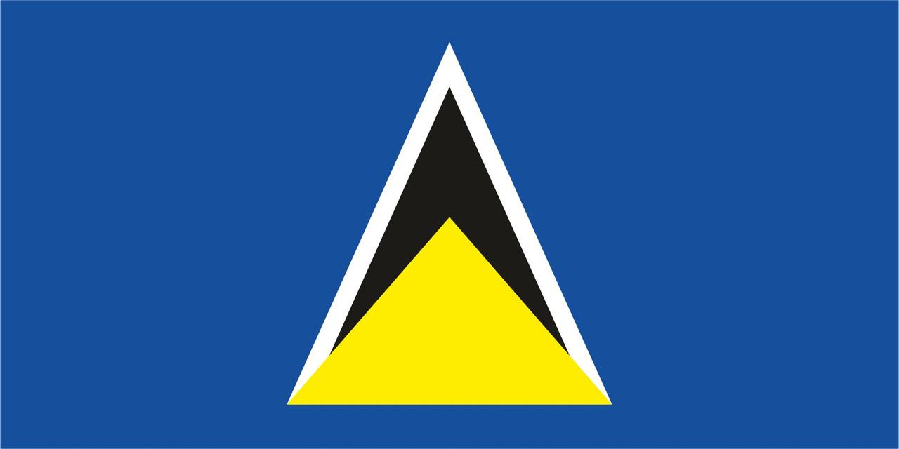 Флаг Сент-Люсии 1 х 2 метра.