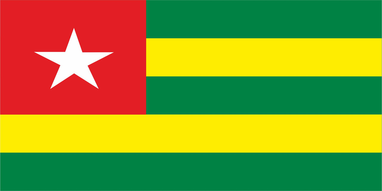 Флаг Того 1 х 2 метра.
