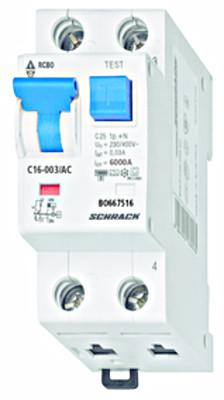Автоматический выключатель с УЗО 1+нейтраль 16А 30мА