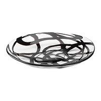 Тарелка ФИРАНДЕ прозрачное стекло черный ИКЕА, IKEA