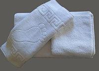 Махровое полотенце для ног 50*70 белое, Туркмения  (плотность 650 г/м2)