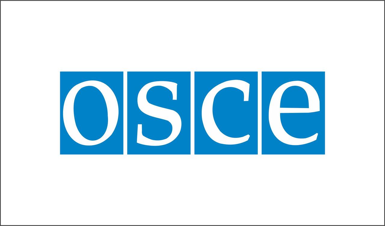 Флаг ОБСЕ. Организация по безопасности и сотрудничеству в Европе
