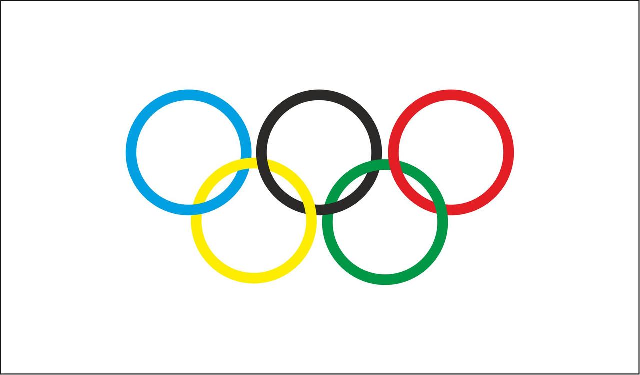 Флаг Олимпийский. Международного Олимпийского Комитета.