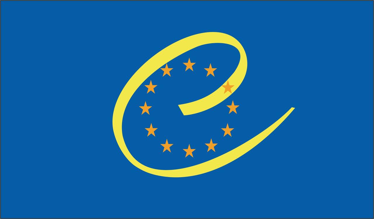 Флаг ПАСЕ. Парламентская ассамблея Совета Европы.