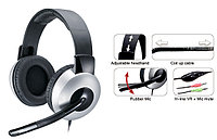 Genius Наушники с микрофоном HS-05A, full size headset w/Roll-up cable /