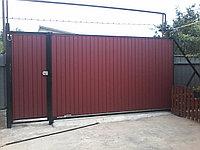 Изготовление консольных ворот из профнастила