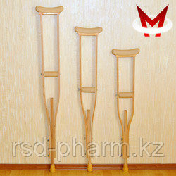 Костыли подмышечные деревянные с мягкими подмышечниками и УПС Штырь