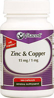 Vitacost Zinc Copper 15 mg/ 1 mg (100 капсул)