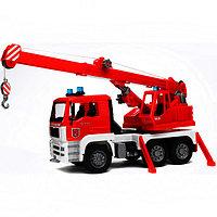Пожарная машина автокран Bruder MAN с модулем со световыми и звуковыми эффектами