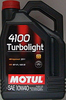 Моторное масло Motul 4100 Turbolight 10W-40, 4 литра