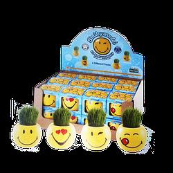 """Травка в горшочке из серии """"Смайлики"""" в наборе для выращивания"""