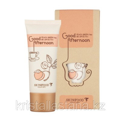 Свотчи ВВ-крем от SkinFood Good Afternoon Peach Green Tea #1 Light beige