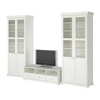 Шкаф для ТВ комбинация ЛИАТОРП белый ИКЕА, IKEA  , фото 1
