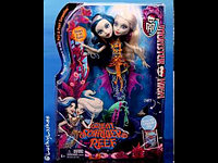 Куклы монстер хай Пери и Пер, Monster High Great Scarrier Reef Glowsome Ghoulfish Reef Peri & Pearl Serpintine
