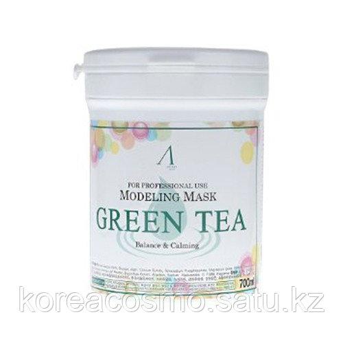Альгинатная антиоксидантная успокаивающая маска с зеленым чаем ANSKIN Modeling Mask Green Tea