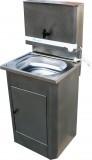 Умывальник для дачи с водонагревателем, пластиковая раковина