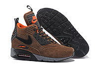 Зимние кроссовки Nike Air Max 90 Sneakerboot Ice Brown (40-46)
