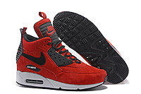 Зимние кроссовки Nike Air Max 90 Sneakerboot Ice Red (40-46), фото 1