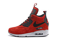Зимние кроссовки Nike Air Max 90 Sneakerboot Ice Red (40-46), фото 2