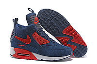 Зимние кроссовки Nike Air Max 90 Sneakerboot Ice Navy (40-46)