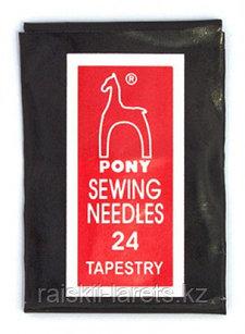 Иглы гобеленовые Pony sewing needles 24 tapestry