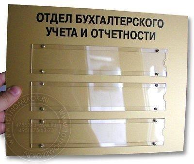 Таблички на двери с карманами