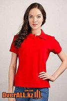 Красные футболки поло, пошив на заказ.