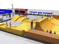 3д моделирование спортивной площадки