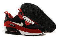 Зимние кроссовки Nike Air Max 90 Sneakerboot Red Black White (40-46)
