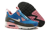 Зимние кроссовки Nike Air Max 90 Sneakerboot Blue Pink White (36-40)