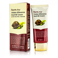 FarmStay Тональный BB крем для лица Farmstay Visible Difference Snail BB Cream SPF 40 PA++